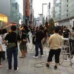 銀座でのiPhone5発売待の行列